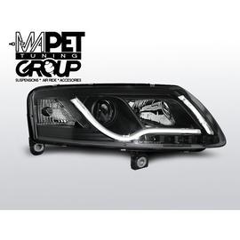Audi A6 C6 4F - Black DayLight Tube LED DRL  światła jazdy dziennej LPAUC8