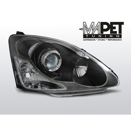 Honda Civic 04-06 clear BLACK soczewka LPHO32