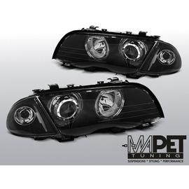 BMW E46 Sedan / Touring Angel Eyes BLACK diodowe Ringi LED  LPBMG1