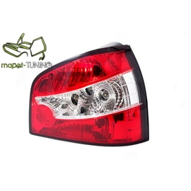 Audi A3 Clearglass Red/White - LTAU23
