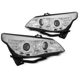 BMW E60 / E61 03-07 CHROM Angel Eyes CCFL + kierunkowskaz LED LPBMH8