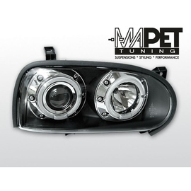 VW Golf 3 clear Angel Eyes BLACK soczewka ringi LPVW10