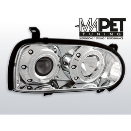 VW Golf 3 clear Angel Eyes CHROM soczewka ringi LPVW03