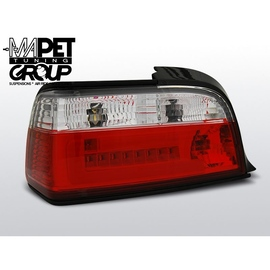 BMW E36 Coupe / Cabrio CLEAR Red/White LED BAR LDBM77