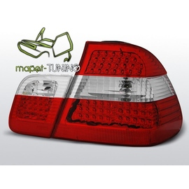BMW E46 Sedan Clear Red / White LED Diodowe  LDBM58