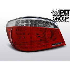 BMW E60 Sedan Clear RED / WHITE LED Diodowe LDBMA0