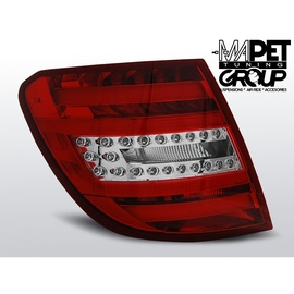 Mercedes C-klasa Kombi (W204) red / white LED BAR - DIODOWE  LDME75