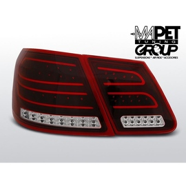 Mercedes E-klasa Sedan (W212) red / white LED BAR - DIODOWE  LDME87