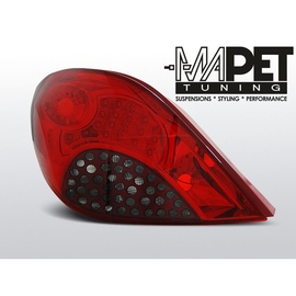 Peugeot 207 Red / Black LED - czarne diodowe LDPE18