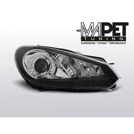 VW Golf 6 - BLACK LED - paski i diody LED  FK LPVWG7 DRL dzienne