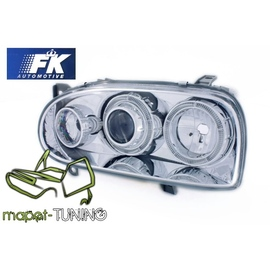 VW Golf 3 Clearglass Angel Eyes CHROM Soczewkowe LPVW47 DEPO