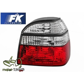 VW Golf 3 clearglass Red/White Czerwono/Białe  DEPO LTVW97