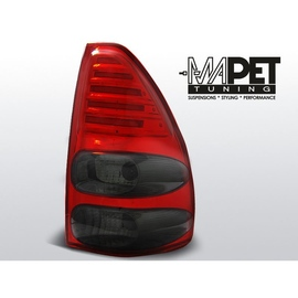 Toyota Land Cruiser 120 Red Black LED Celis diodowe paski LDTO11