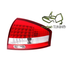 Audi A6 C5 Sedan  clearglass Red/White LED diodowe LDAU03