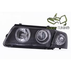 VW Passat B5 Clearglass BLACK Angel Eyes Ringi LPVW26  DEPO