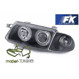 Opel Astra F Clear BLACK Angel Eyes soczewki ringi FK LPOP89