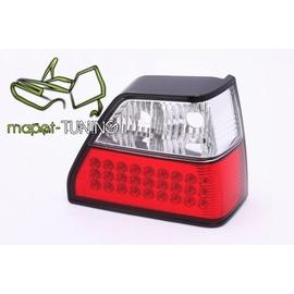 VW Golf 2 clear LED Red/White Czerwono-Białe diodowe  LDVW33