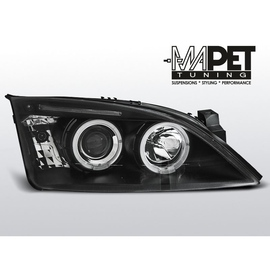 Ford Mondeo II 00-07 Angel Eyes BLACK soczewki ringi LPFO35