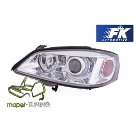 Opel Astra G clearglass CHROM Angel Eyes Ringi DEPO LPOP31