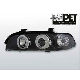 BMW E39 Angel Eyes BLACK czarne Ringi BM16 el.
