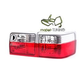 Audi 80 clearglass Red / White - czerwono białe