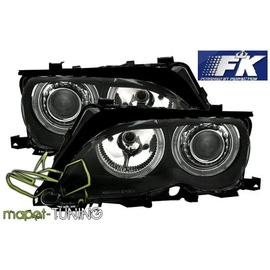 BMW E46 Coupe / Cabrio 01-03 Angel Eyes BLACK Ringi FK LPBM82