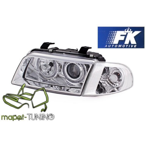 Audi A4 B5 95-99 clearglass Angel Eyes Chrom soczewkowe  FK LPAU09
