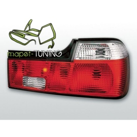 BMW E32 Sedan - Clear Red / White czerwono białe LTBM20