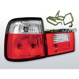 BMW E34 Sedan CLEAR RED / WHITE  czerwono-białe LTBM25