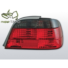 BMW E38 Sedan Clear Red/Black LTBM45