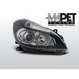 Renault Clio 3 05-09 clear Angel Eyes BLACK soczewka ringi FK LPRE30