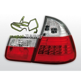 BMW E 46 Touring (Kombi) Clear Red/White Led diodowe LDBM28