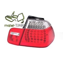 BMW E46 Sedan Clear Red/White Led diodowe LDBM07