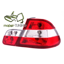 BMW E 46 Sedan Clear Red / White LTBM16