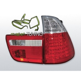 BMW X5 E53 Clear Red/White Led diodowe LDBM21