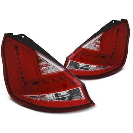 FORD FIESTA MK7 08-12 HB RED WHITE LED BAR diodowe LDFO45