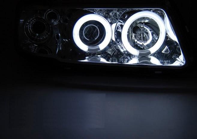 Audi A3 8l 96 00 Black Angel Eyes Ccfl Soczewkowe Ringi Lpaud9