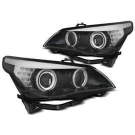 BMW E60 / E61  03-07  BLACK Angel Eyes CCFL + kierunkowskaz  LED  LPBMH9