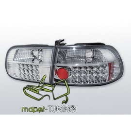 Honda Civic Hatchback - clear LED chrom 91-95 3d  LDHO03