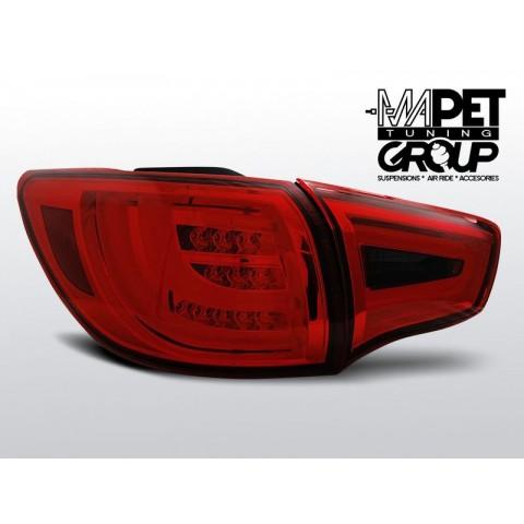 KIA SPORTAGE III 10- RED / BLACK LED BAR - diodowe - LDKI02