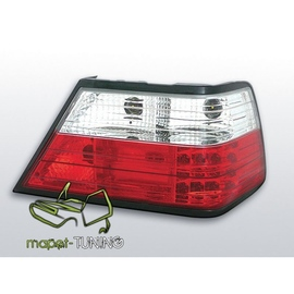 Mercedes E-klasa (W124) clearglass Red/White LED DIODOWE LDME02