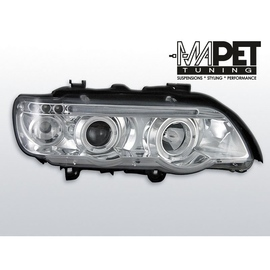BMW E53 X5 Angel Eyes CHROM Ringi + LED LPBM42