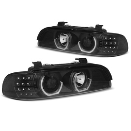 BMW E39 - BLACK LED Angel Eyes 3D / kierunkowskaz LED LPBM19