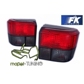 VW T4 Caravelle / Multivan / Transporter  -  RED / BLACK FK  LTVW18
