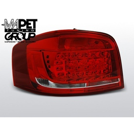 Audi A3 8P 3D Red/White LED diodowe 2008-2012 FK LDAUB6