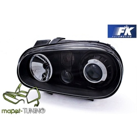 VW Golf 4 clearglass BLACK soczewkowe R32 Look LPVW62 DEPO
