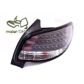 Peugeot 206  clearglass LED BLACK - czarne diodowe LDPE06