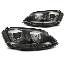 VW Golf 7 - BLACK LED DRL dzienne - U-type LPVWP1