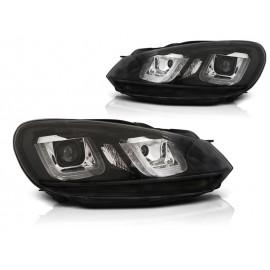 VW Golf 6 - BLACK LED DRL dzienne - z czarnym paskiem LPVWP4