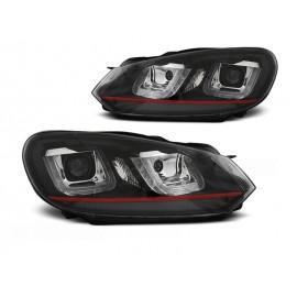 VW Golf 6 - BLACK LED DRL dzienne - z czerwonym paskiem LPVWP5